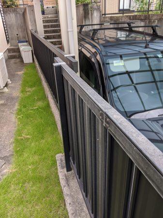 アルミ外構フェンスの劣化